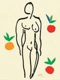 オレンジと裸婦 1953年 ポスター : アンリ・マティス