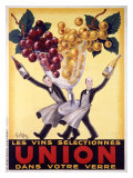 Les Vins Selectionnes Union Lámina giclée por  Robys (Robert Wolff)