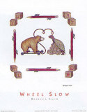 Wheel Slow Posters by Rebecca Lach