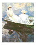 Girls on a Boat Posters by Claude Monet