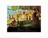 A Sunday on La Grande Jatte 1884, 1884-86 Plakat av Georges Seurat