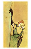 Yvette Guilbert Taking Curtain Call Lámina giclée por Henri de Toulouse-Lautrec