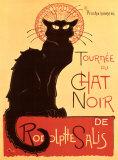 黒猫(ルドルフ・サリの黒猫の巡業) 高品質プリント : テオフィル・アレクサンドル・スタンラン
