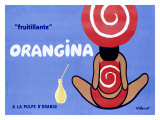 Orangina fruitillante Reproduction procédé giclée par Bernard Villemot