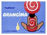 Orangina, Frutillante Lámina giclée por Bernard Villemot