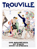 Trouville Giclee Print by Maurice Lauro