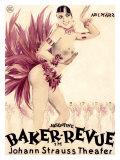 Josephine Baker Revue Lámina giclée por Hans Neumann