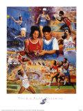 Track & Field Dreaming Posters av Clement Micarelli
