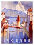 Lucerne Gicléedruk van Otto Baumberger