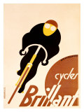 Cycles Brillant Reproduction procédé giclée par Adolphe Mouron Cassandre