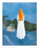 Jeune fille sur la jetée Poster par Edvard Munch