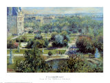 View of Tuileries Gardens Poster by Claude Monet