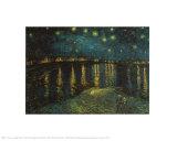 Noite Estrelada Sobre o Ródano, c.1888 Pôsters por Vincent van Gogh