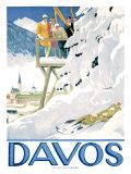 Davos Gicléetryck av Emil Cardinaux