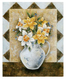 Vase of Narcissus Art by A. Da Costa