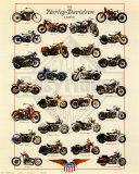 Harley Davidson-Legende Poster