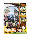 Les Pigeons, c.1957 Plakat af Pablo Picasso