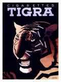Tigra-Zigaretten Giclée-Druck von Paul Colin