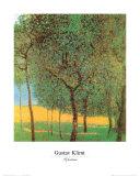 Orchard Plakat af Gustav Klimt