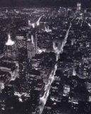 Blick auf Lower Manhattan bei Nacht Kunstdrucke von Christopher Bliss