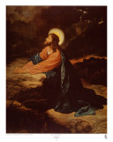 Christ in Gethsemane ポスター : E. グッドマン
