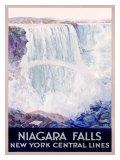 New York, Central Lines, Niagara Falls Giclée-tryk af Frederic Madan