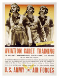 WWII, Aviation Cadet Training Stampa giclée