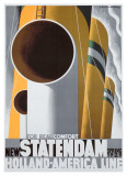New Statendaam Giclee Print by Adolphe Mouron Cassandre