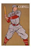 Vintage Cornell Baseball Giclée-tryk