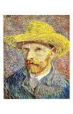 Autorretrato con sombrero de paja Lámina giclée por Vincent van Gogh