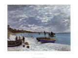 La plage a Sainte-Adresse Poster por Claude Monet