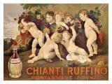 Chianti Ruffino Cherub Angels Giclée-Druck von Leopoldo Metlicovitz