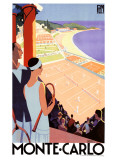 Monte Carlo Giclee Print by Roger Broders
