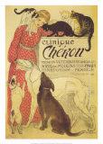 Clínica Cheron, em francês, cerca de 1905 Posters por Théophile Alexandre Steinlen