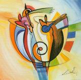 Jazz im Kreis Kunstdrucke von Alfred Gockel