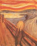Skrik, ca. 1893 Kunst av Edvard Munch
