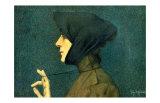 The Woman with a Gold Medallion Reproduction procédé giclée par Lucien Lévy-Dhurmer