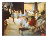 Ecole de Danse Print by Edgar Degas