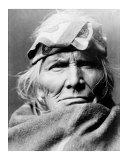 Zuni Elder Giclee Print by Edward S. Curtis