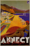 Annecy Sa Plage Posters af Robert Fallucci
