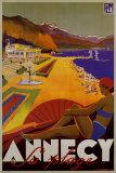Annecy Sa Plage Poster van Robert Fallucci