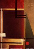 Rote Quadrate II Poster von William Verner