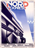 Nord Express Giclee Print by Adolphe Mouron Cassandre