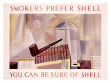Smokers Prefer Shell Giclee Print by Charles Shaw