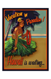 Vacation in Hawaii Giclée-tryk