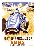41st Grand Prix of the Automobile Club de France, Reims Giclee-trykk av Geo Ham