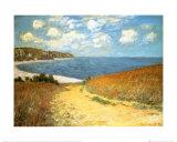 Sti gjennom kornet ved Pourville, 1882 Plakat av Claude Monet
