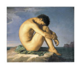 Young Male Nude, 1855 Plakater af Hippolyte Flandrin