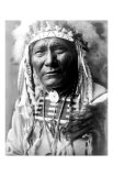 Nez Perc Head Dress Giclee Print by Edward S. Curtis