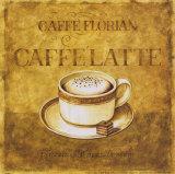 Caffe' Latte Print by Herve Libaud